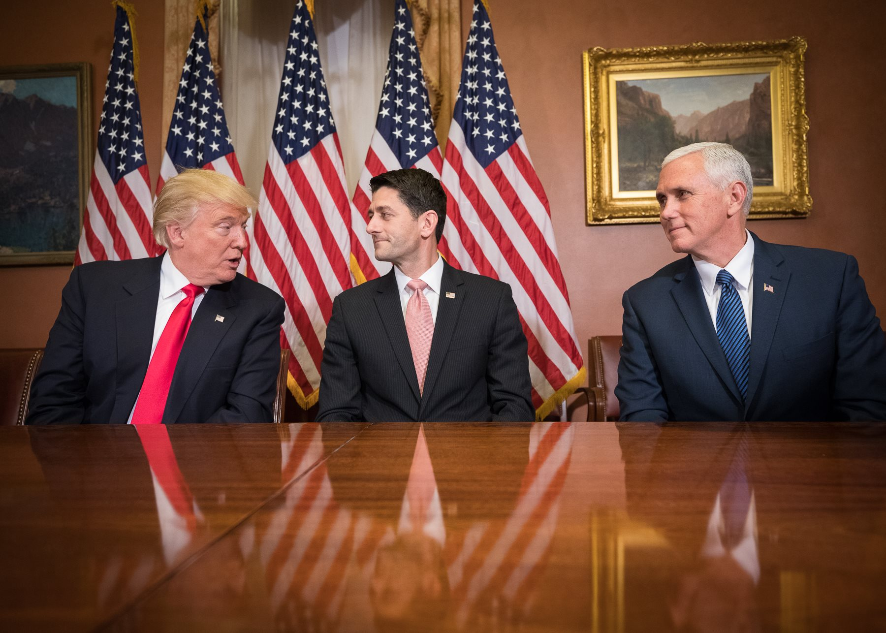 Ryan with Pence and Trump