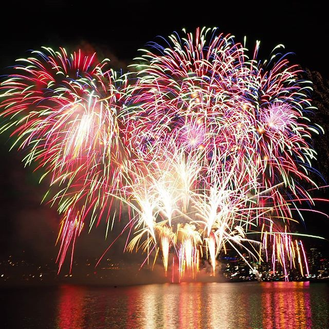 Another composite image from last night's fireworks spectacular over Lake Union
