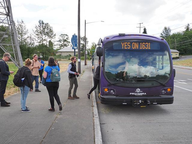 Yes on 1631: Now boarding for Olympia!