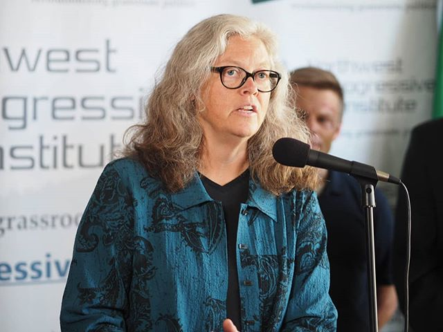House Judiciary Chair Laurie Jinkins answers a question about getting death penalty repeal legislation to Governor Inslee's desk in 2019 (Photo: Tammi Laster/NPI)