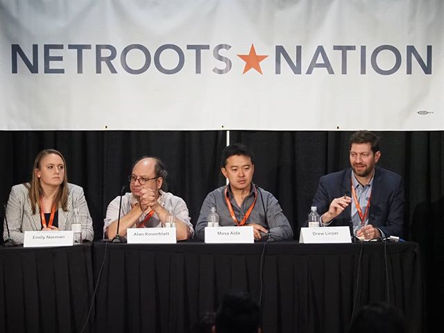 Scenes from #NN18: Trends in polling were discussed at this panel on public opinion research