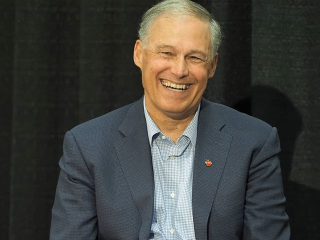 Scenes from #NN18: That's our Governor! Jay Inslee explains how Washington State has been charting a very different path from the government meeting in that other Washington