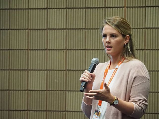 Scenes from #NN18: Margaret Whiteley of Giffords co-leads a training on finding progressive donors