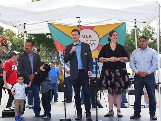 Labor Day 2018: Members of the Burien City Council address the MLK Labor Council's 2018 picnic