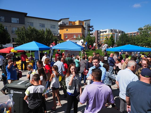 Labor Day 2018: Activists, workers, elected officials, and labor leaders celebrate the holiday with a cookout and speaking program at Burien's Town Square