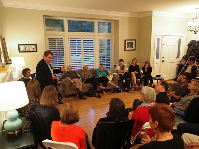 "Progressive strategist and author Mike Lux engages with supporters of NPI and Indivisible WA-08 about his book ""How to Democrat in the Age of Trump"""