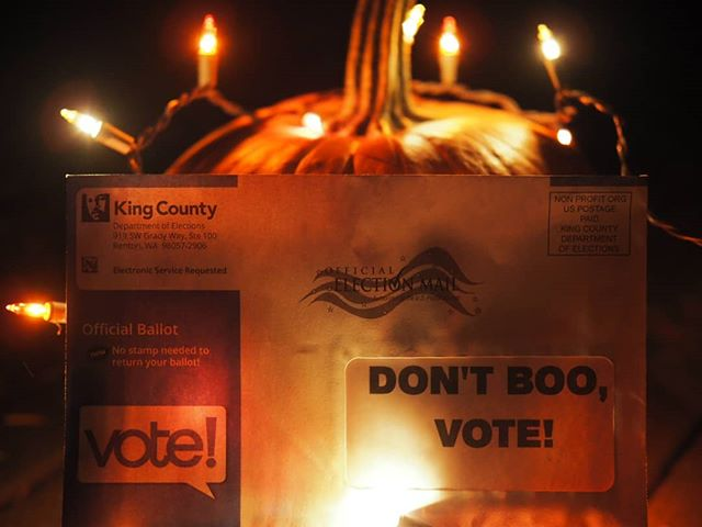 A scary future awaits us if we don't vote! Get your ballot in and then make sure your family and friends have voted. #HappyHalloween from NPI!