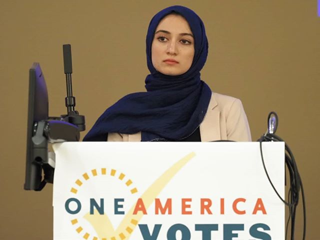 Varisha Khan moderates OneAmerica's Not To Be Ignored town hall