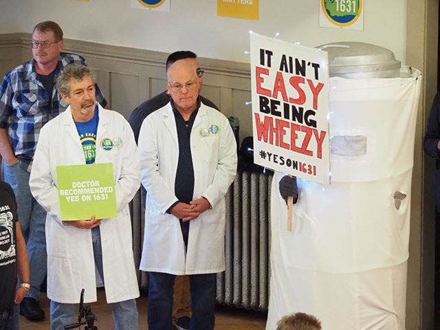 It ain't easy being wheezy: Initiative 1631 is doctor-recommended because it would clean up our air and water