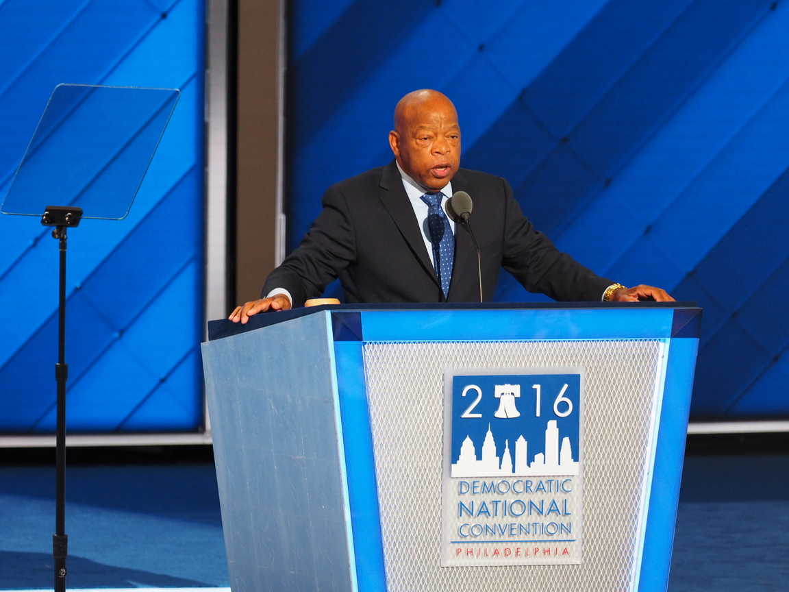 John Lewis speaks at the 2016 Democratic National Convention
