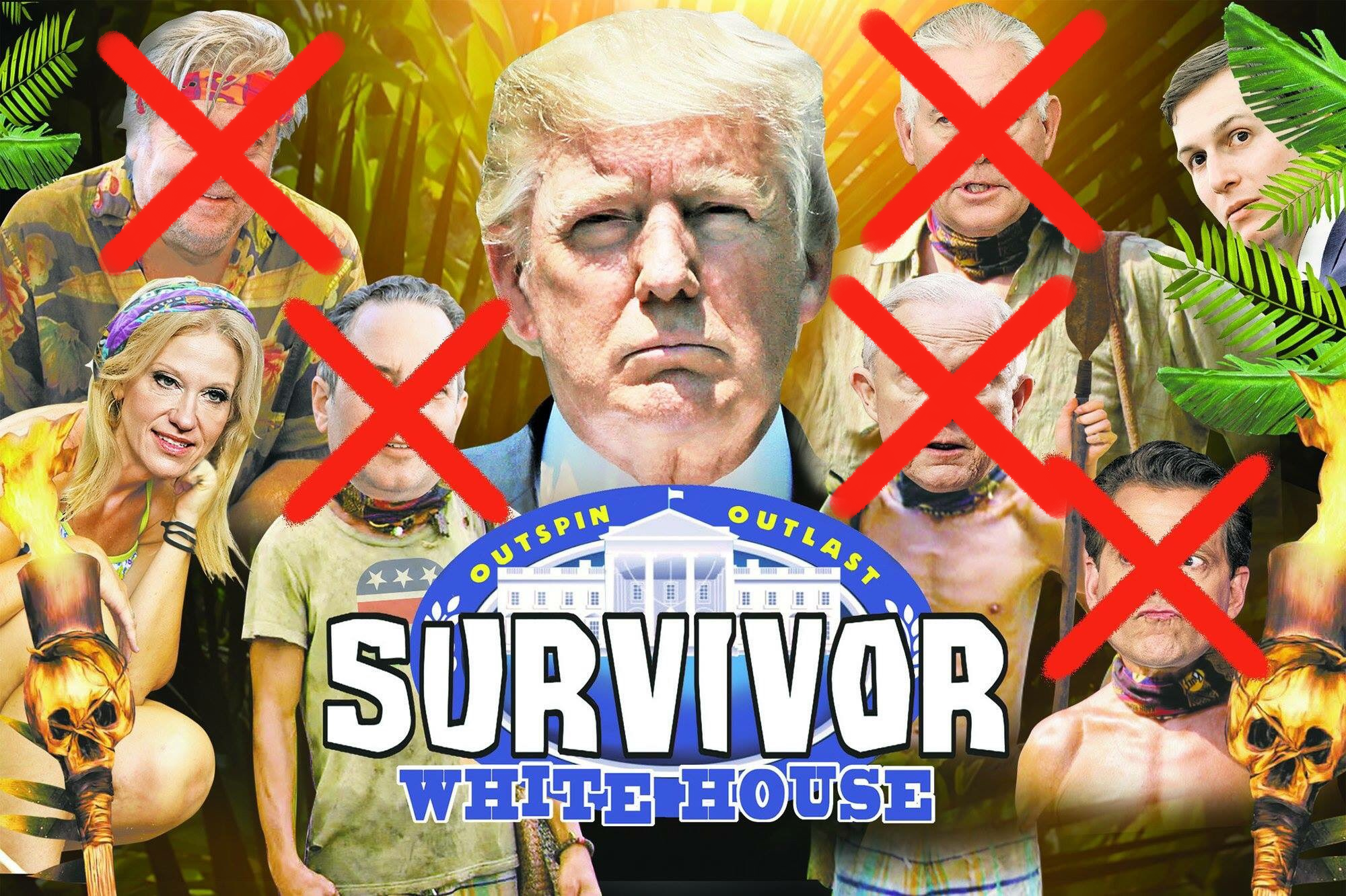 Outspin. Outlast. Presenting.... Survivor: (Trump's) White House -- Updated with More Departures