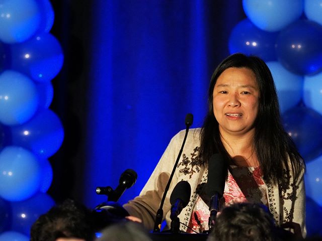 Flashback to General Election Night 2018: State Representative-elect My-Linh Thai reflects on her groundbreaking campaign (Photo: Andrew Villeneuve/NPI)
