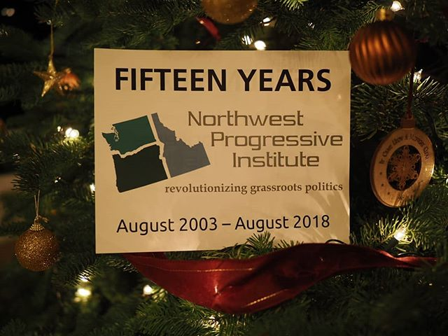 Merry Christmas; merry everything and happy always from your friends at the Northwest Progressive Institute!