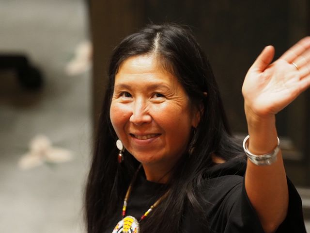 2019 State of the State Highlight: State Representative Debra Lekanoff, the first Native American woman to be elected to the House, acknowledges onlookers in the galleries