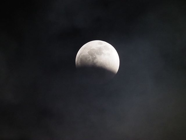 Lunar Eclipse flashback: Occasionally cloudy skies made eclipse watching even more of a thrill