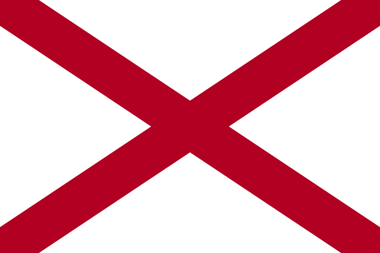 The flag of Alabama