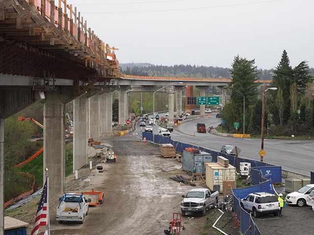 This is the guideway that will carry East Link trains between the South Bellevue Station and Mercer Island