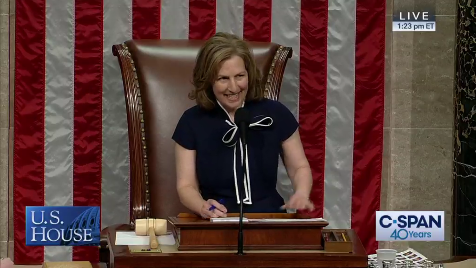 Kim Schrier presides over the U.S. House