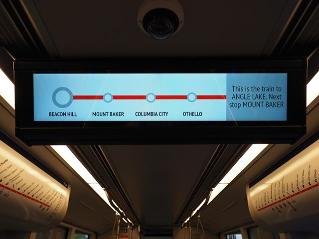 Puget Sound, say hello to your new ride: Sound Transit's second generation light rail vehicles offer snazzier overhead screens that can be configured to show route information or safety warnings