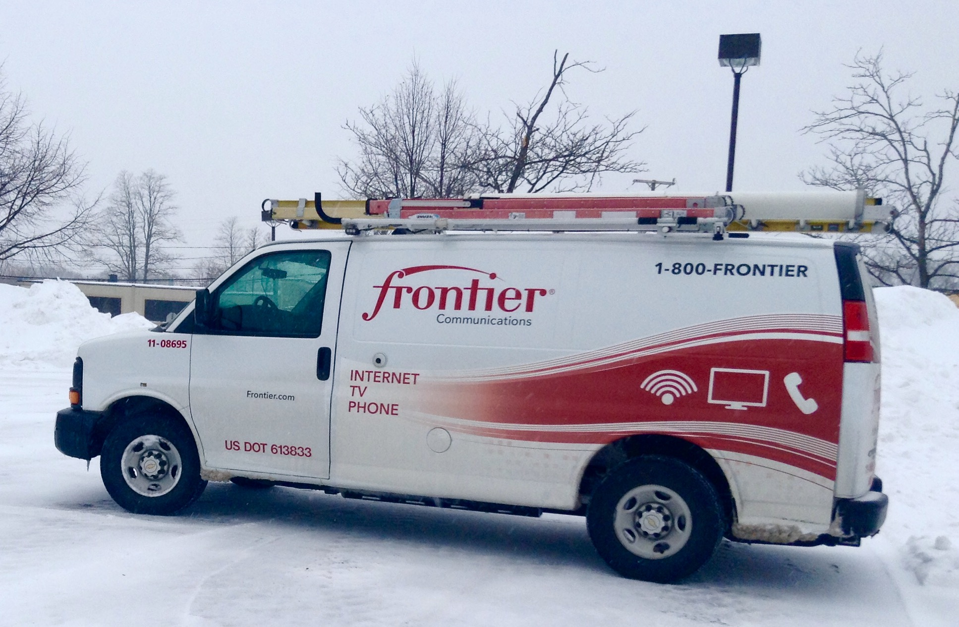 A Frontier communications van