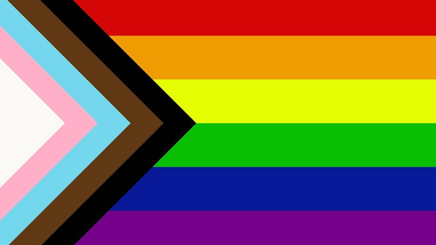 Redesigned LGBTQ Pride flag