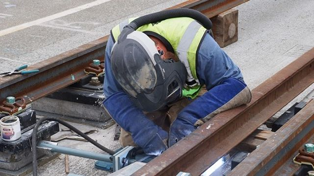 East Link on track: This video shows a welder installing tie rods on the Homer M. Hadley Memorial Bridge