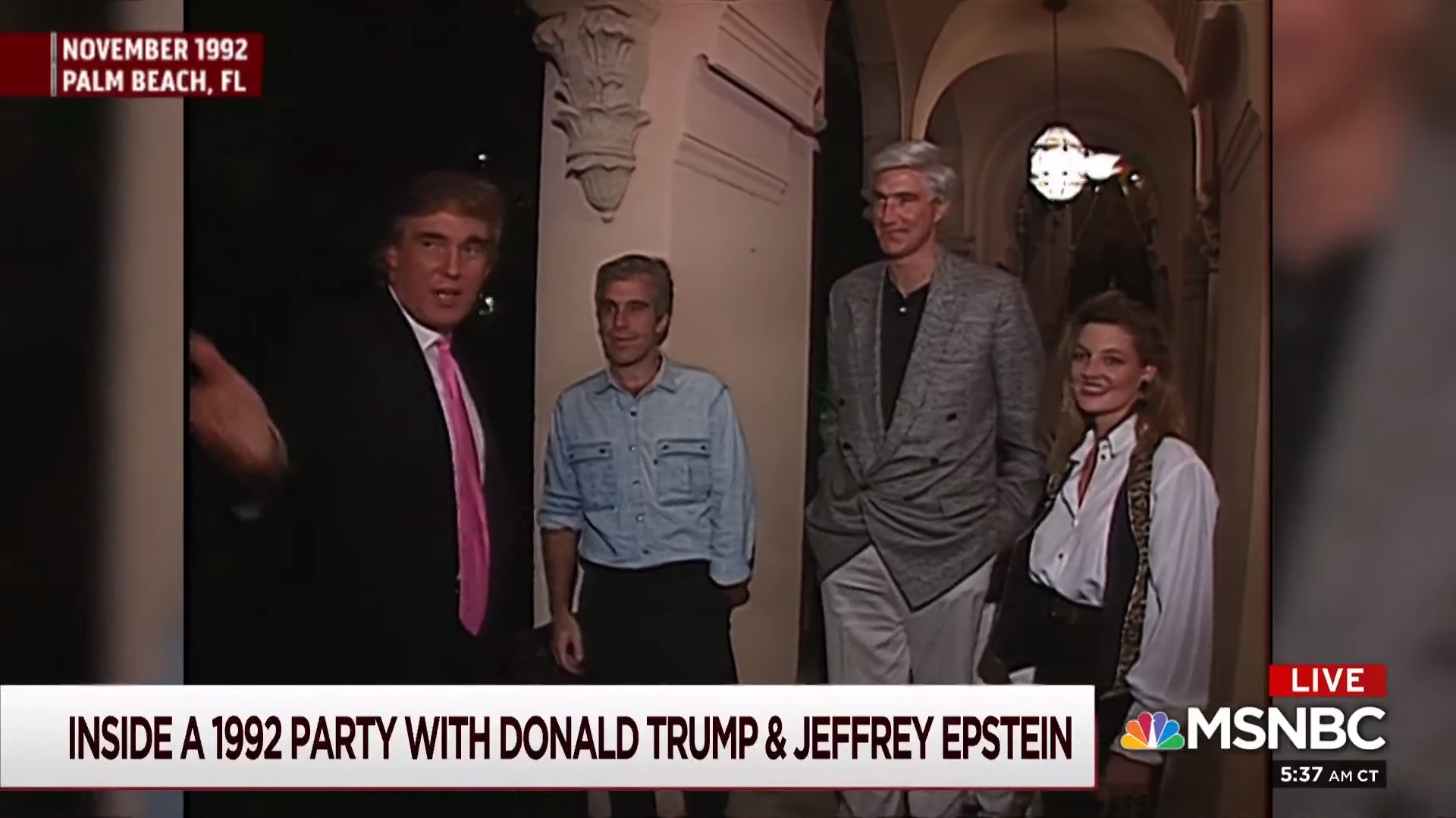 Inside a party with Donald Trump and Jeffrey Epstein