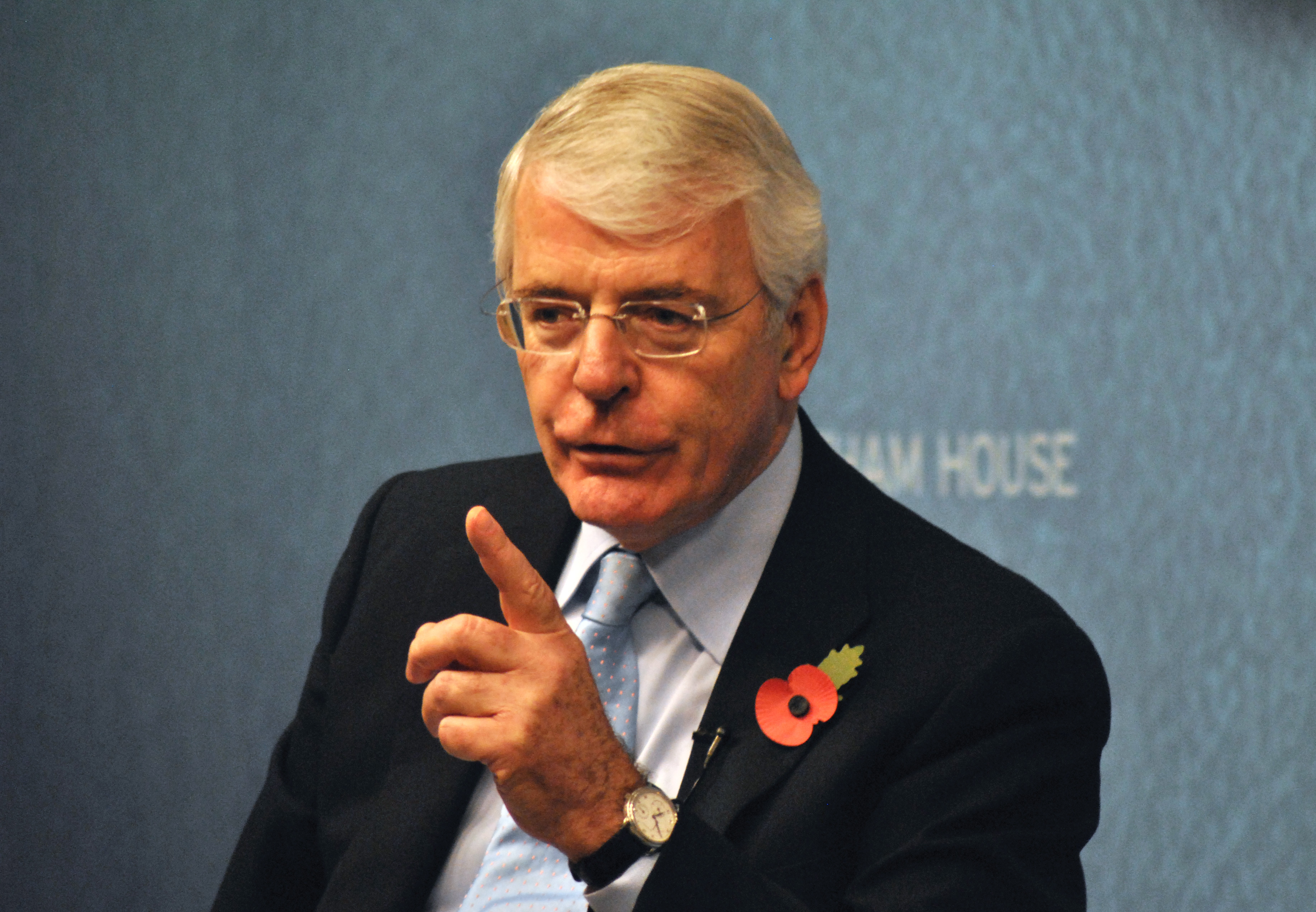 Sir John Major speaking