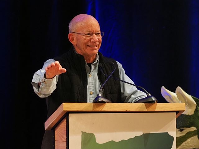 A jubilant U.S. Representative Peter DeFazio celebrates the Trump regime's decision to pull the plug on the scheme to use Trump's Doral property for the G7 summit #OregonSummit