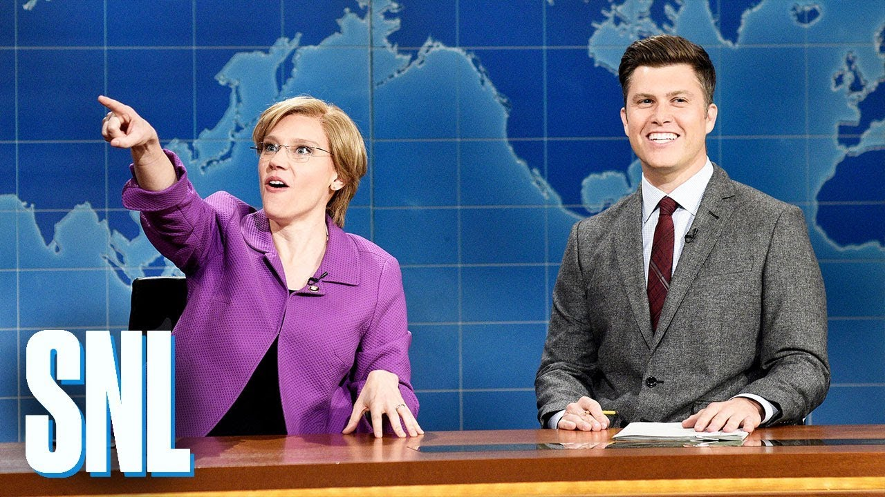 Kate McKinnon as Elizabeth Warren