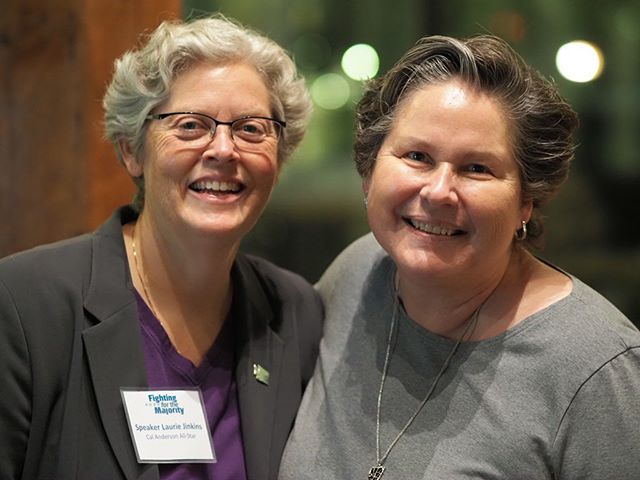 Two incredible women leaders: Speaker-designate Laurie Jinkins of the Washington State House of Representatives and Chair Tina Podlodowski of the Washington State Democratic Party