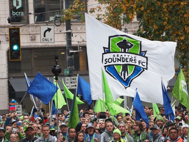 Scenes from the 2019 Sounders' championship parade: Let the march to Seattle Center begin