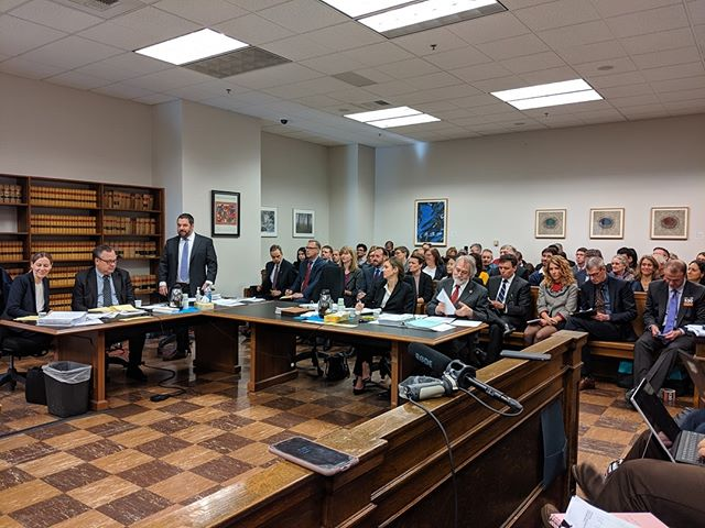 The scene in Judge Marshall Ferguson's courtroom as attorneys for the state and local governments argue the constitutionality (or lack thereof!) of Tim Eyman's Initiative 976