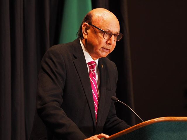 Last year at Attorney General Bob Ferguson's annual luncheon: A true American hero, Khizr Khan, praises Washington State's defense of the United States Constitution and rule of law
