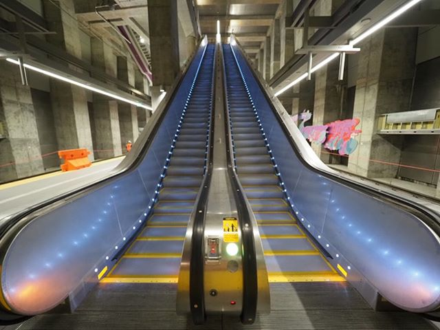 "Inside Sound Transit's new Roosevelt Station: New ""transit grade"" escalators are being extensively tested ahead of the 2021 opening of Northgate Link"