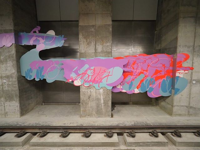 Inside Sound Transit's new Roosevelt Station: Bright, colorful artwork has already been installed on the station walls