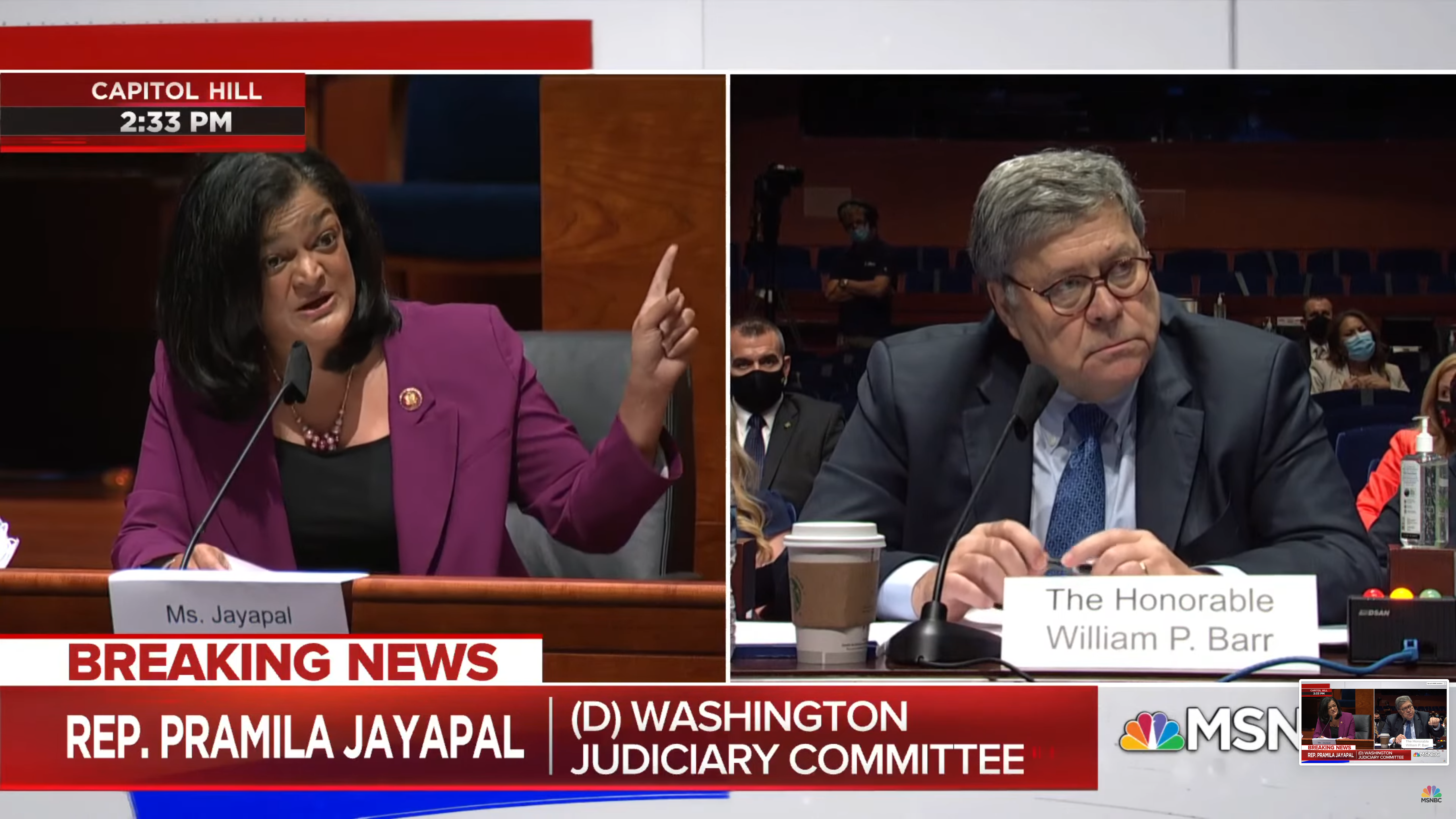 Pramila Jayapal vs. Bill Barr