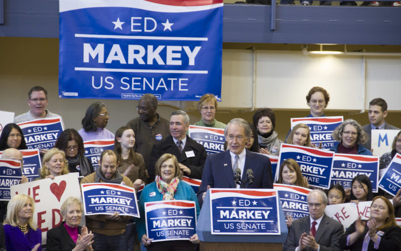 Ed Markey campaigning