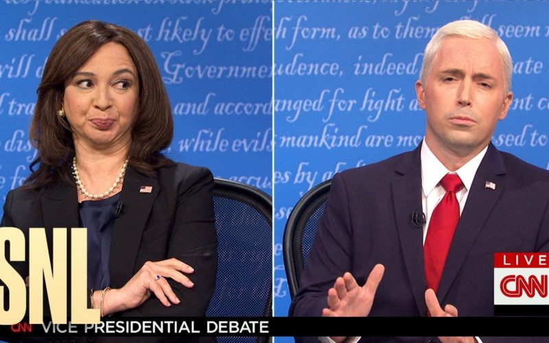 Maya Rudolph and Beck Bennett spoof the vice presidential debate
