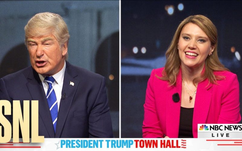 Donald Trump vs. Savannah Guthrie: SNL town hall spoof