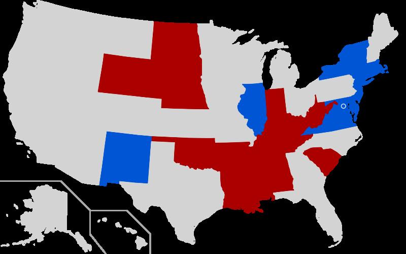 Trump versus Biden: 6:15 PM Pacific Map