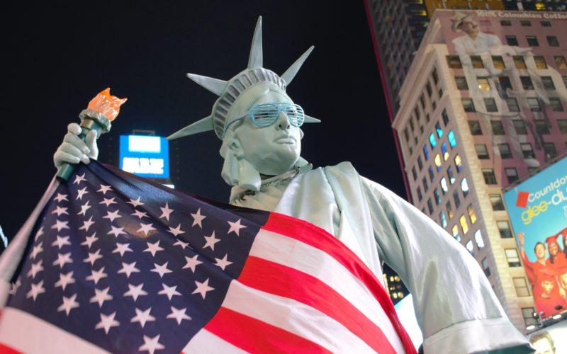 A Statute of Liberty character