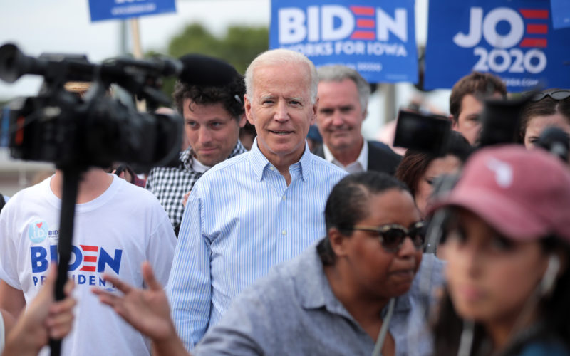 Biden campaigns in Iowa in 2019