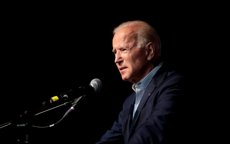 Joe Biden talks to the Iowa Democratic Wing Ding