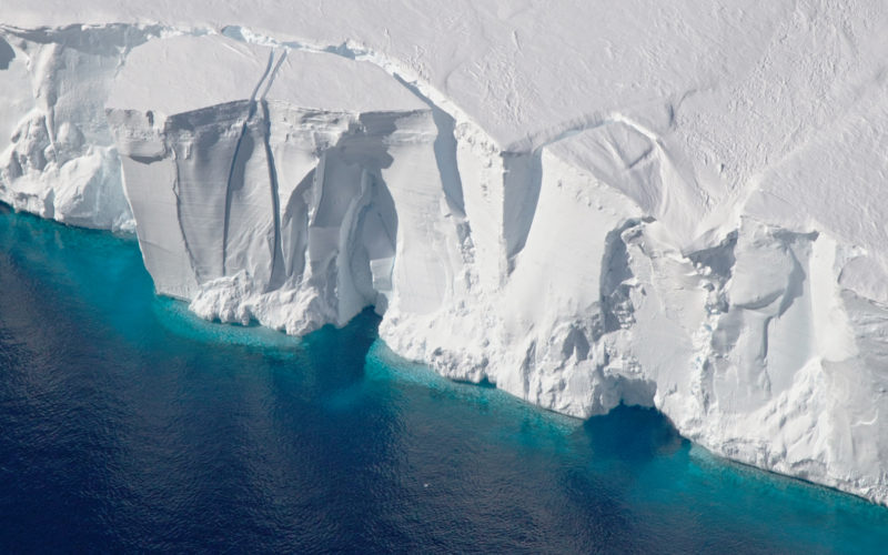 Getz ice shelf in Antarctica, where ice is melting