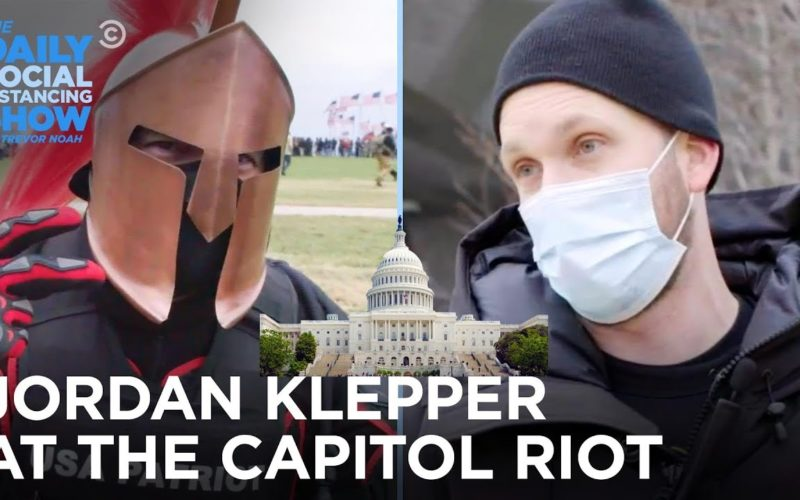 Jordan Klepper at the U.S. Capitol