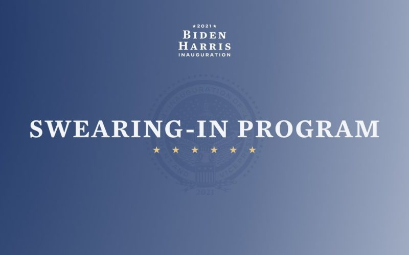 Swearing In Program Card for Biden/Harris