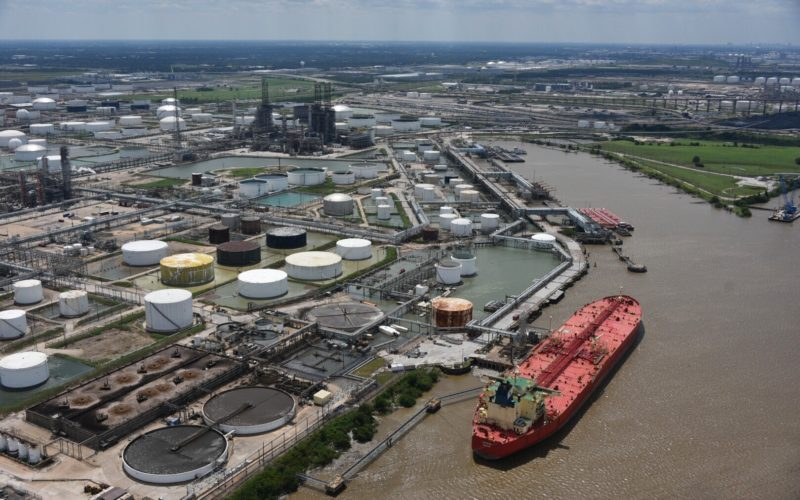 Coast Guard aircrews conduct flyovers to assess Texas ports