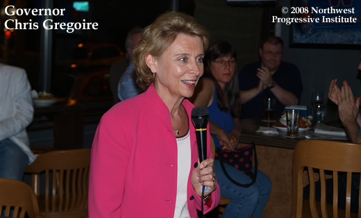 Governor Chris Gregoire at Seattle Drinking Liberally