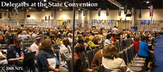 Delegates at the 2008 Washington State Democratic Convention